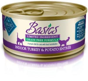 Blue Basics Limited Ingredient Diet Adult Indoor Grain Free Duck & Potato Wet Cat Food