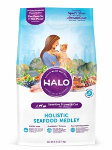 Halo Natural Dry Cat Food, Sensitive Stomach