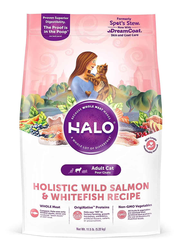 Halo Natural Dry Cat Food, Wild Salmon & Whitefish Recipe
