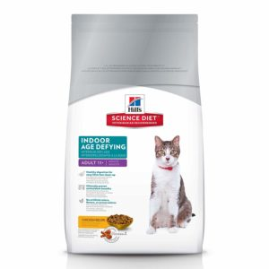 Hill's Science Diet Dry Cat Food, Adult 11+, Indoor, Chicken Recipe