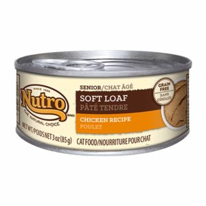 Nutro Wholesome Essentials Chicken Recipe Soft Loaf Canned Senior Wet Cat Food