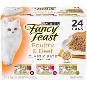 Purina Fancy Feast Grain Free Pate Wet Cat Food Variety Pack